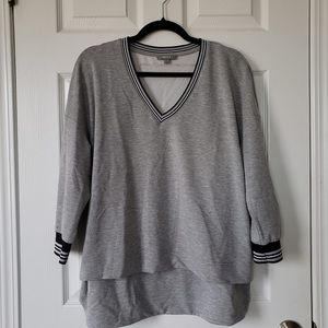 High Low, V Neck Long Sleeve Sweater